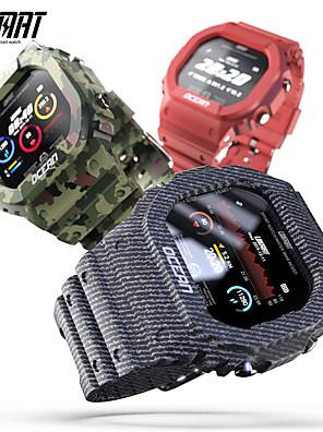 baratos Os mais vendidos-lokmat OCEAN Homens mulheres Relógio inteligente Android iOS Bluetooth Impermeável Tela de toque Monitor de Batimento Cardíaco Medição de Pressão Sanguínea Esportivo Cronómetro Podômetro Aviso de