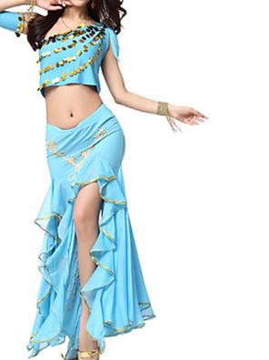 cheap Evening Dresses-Belly Dance Skirts Pleats Appliques Paillette Women's Performance Polyester