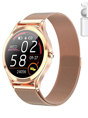 cheap Smart Watches-JSBP MK10 Smart Watch BT Fitness Tracker Support Notify/Heart Rate Monitor Sport Stainless Steel Bluetooth Smartwatch Compatible IOS/Android Phones TWS Distribution Ear Machine