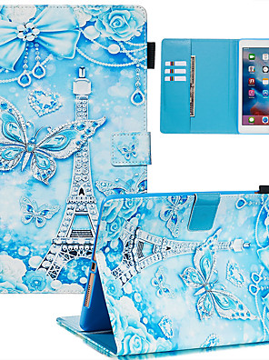 cheap iPad case-Case For Apple iPad Air / iPad (2018) / iPad Air 2 Dustproof / with Stand / Flip Back Cover sky PU Leather