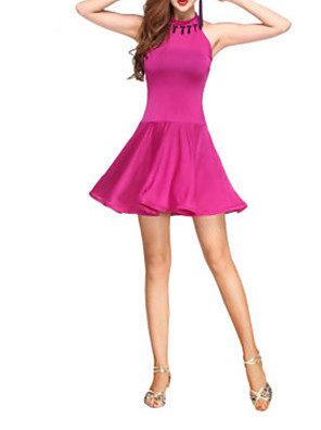 cheap Cocktail Dresses-Latin Dance Dress Beading Women's Performance Polyester
