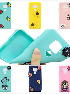 cheap Huawei Case-Case for Huawei scene map Huawei P30 P30 Pro P30Lite Mate 30 Lite New Candy-colored DIY3D Patch Thickened Matte TPU All Inclusive Mobile Phone Case SZ