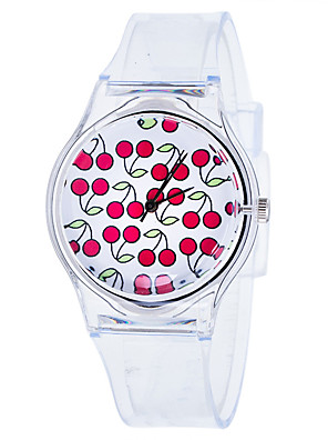 cheap Quartz Watches-Women's Quartz Watches Quartz New Arrival Chronograph Rubber White Analog - White Red Green One Year Battery Life