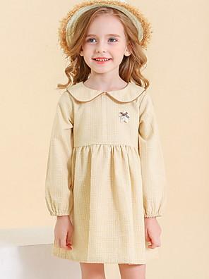 cheap Girls' Dresses-Toddler Girls' Solid Colored Dress Blushing Pink