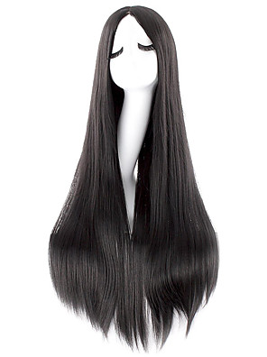 cheap Quartz Watches-Synthetic Wig kinky Straight Halloween Asymmetrical Wig Long Natural Black Synthetic Hair 40 inch Women's Best Quality Black