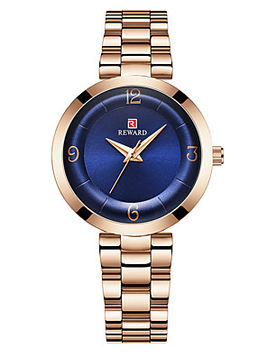 cheap Quartz Watches-Women's Steel Band Watches Luxury Fashion Stainless Steel Japanese Quartz Purple Green Blue Water Resistant / Waterproof 30 m 1 pc Analog One Year Battery Life