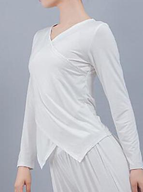 cheap Prom Dresses-Ballet Top Split Joint Women's Training Performance Long Sleeve Modal