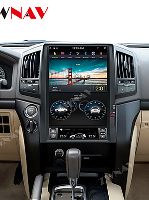 cheap Evening Dresses-ZWNAV 15.6 inch 1DIN Tesla style 4GB 64GB Car DVD Player GPS Navigation auto Radio Car stereo multimedia Player for TOYOTA LAND CRUISER LC200 2008-2015 PLUS