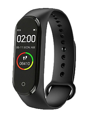 cheap Smart Watches-M4 Unisex Smart Wristbands Android iOS Bluetooth Heart Rate Monitor Blood Pressure Measurement Sports Calories Burned Thermometer Pedometer Call Reminder Sleep Tracker Sedentary Reminder Find My