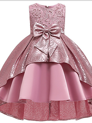 cheap Girls' Dresses-Ball Gown Ankle Length Pageant Flower Girl Dresses - Polyester Sleeveless Jewel Neck with Bow(s) / Appliques