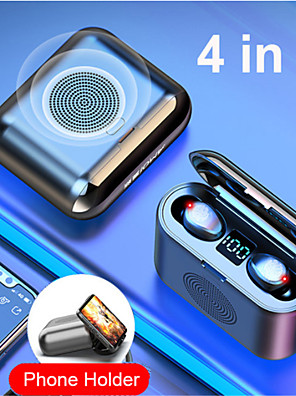 cheap Wireless Chargers-New True Wireless Bluetooth Earphone and Speaker 2 in 1 HD Stereo Wireless Headphones Mini Earbuds Bass Headset with 2000mAh Bin