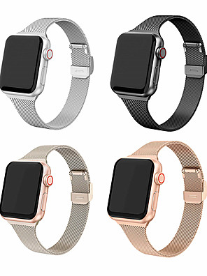 cheap Leather Watch Bands-Milanese Strap For Apple Watch IWatch 5 Band 42/44MM 38/40MM Band Stainless Strap