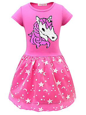 cheap Girls' Dresses-Kids Girls' Cartoon Dress Purple