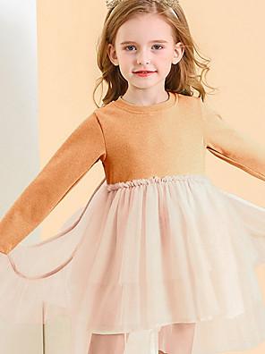 cheap Girls' Dresses-Toddler Girls' Color Block Dress White