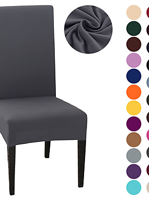 cheap Quartz Watches-Chair Cover Strech Dining Chair Slipcover High Stretch Black/Gray/White Furniture Protector Spandex Removable Washable Chair Seat Protector Cover for Home Party Hotel Wedding  Ceremony
