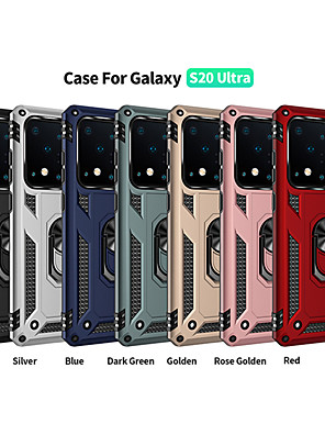 cheap Evening Dresses-Case For Samsung scene map Samsung Galaxy S20 S20 Plus S20 Ultra Military anti-fall series invisible ring stand PC TPU 2-in-1 armor anti-fall phone case