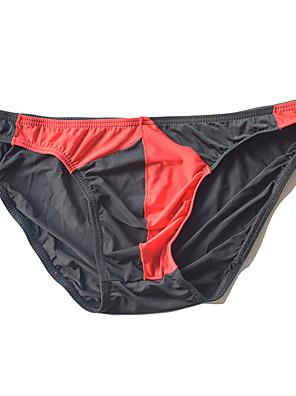 cheap Men's Exotic Underwear-Men's Basic Briefs Underwear - Normal Low Waist Black Light Blue White S M L