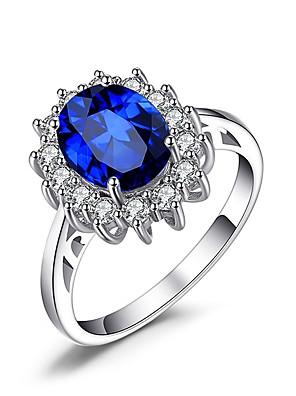 cheap Quartz Watches-Women's Ring 1pc Blue Alloy Irregular Punk Jewelry