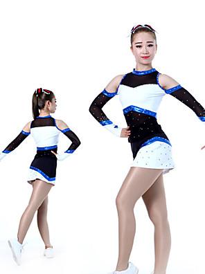 cheap Gymnastics-Cheerleader Costume Uniform Women's Girls' Kids Dress Spandex High Elasticity Handmade Long Sleeve Competition Dance Rhythmic Gymnastics Gymnastics Red