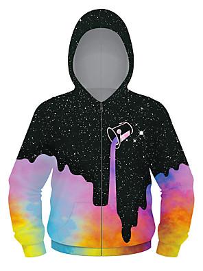 cheap Girls' Dresses-Kids Boys' Active Punk & Gothic Geometric Color Block Plaid Regular Suit & Blazer Black