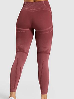 cheap Leggings-Women's Basic Legging - Color Block, Mesh High Waist Wine Blue Black S M L