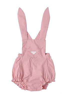 cheap Girls' Dresses-Baby Girls' Street chic Solid Colored Sleeveless Regular Clothing Set Blushing Pink