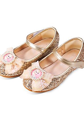 cheap Women's Skirts-Girls' Comfort / Flower Girl Shoes PU Sandals Dress Shoes Little Kids(4-7ys) / Big Kids(7years +) Rhinestone / Sparkling Glitter / Sequin Pink / Gold / Blue Fall / Winter / Party & Evening / Rubber