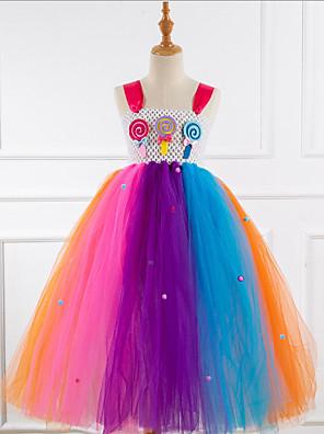 cheap Girls' Dresses-Kids Girls' Rainbow Dress Rainbow
