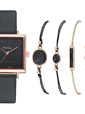 cheap Quartz Watches-Women's Quartz Watches New Arrival Fashion Black White Blue PU Leather Quartz Purple Blushing Pink Green Chronograph Cute New Design 1 set Analog One Year Battery Life