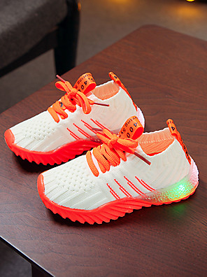 cheap Women's Skirts-Boys' / Girls' LED Shoes Flyknit Athletic Shoes Toddler(9m-4ys) / Little Kids(4-7ys) Pink / Orange / Green Spring / Summer / Color Block