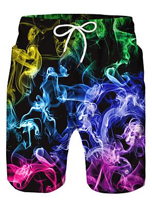povoljno Hlače za dječake-Djeca Dječaci Aktivan Osnovni Print Color block Vezica Kratke hlače Duga