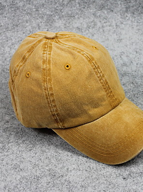 cheap Women's Dresses-Women's Basic Polyester Baseball Cap-Solid Colored Fall Wine Yellow Camel