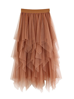 cheap Women's Skirts-Women's Swing Skirts - Solid Colored Blushing Pink Khaki White One-Size