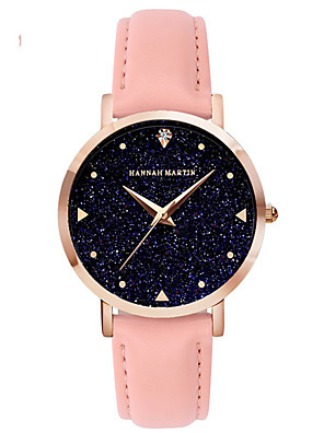 cheap Quartz Watches-Women's Quartz Watches Casual Fashion PU Leather Japanese Quartz Blushing Pink White Brown Water Resistant / Waterproof 30 m 1 pc Analog One Year Battery Life