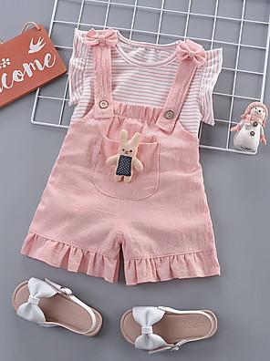 povoljno Kompletići za bebe-Dijete Djevojčice Osnovni Prugasti uzorak Kratkih rukava Duga Normalne dužine Komplet odjeće Bijela