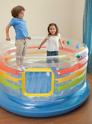cheap Hand Tools-Original Authentic Intex Transparent Children Jumping Music Trampoline Inflatable Naughty Ocean Ball Pool