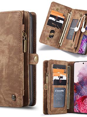 cheap vivoCase-CaseMe Luxury Business Leather Magnetic Flip Case For Samsung Galaxy S20 / S20 Plus / S20 Ultra / Note 10 / Note 10 Plus / S10 Plus / S9 Plus / S8 Plus / S10 / S9 /S8 Wallet Card Slot Detachable Cover