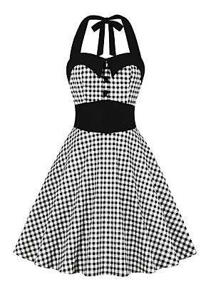 cheap Women's Blouses & Shirts-Women's A Line Dress - Sleeveless Print Crew Neck Black S M L XL XXL