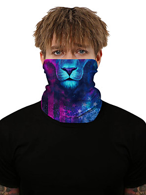 cheap Men's Hats-Neck Gaiter Pollution Protection Quick Dry Ultraviolet Resistant Rainbow  Balaclavas Bandana for Adults' Road Cycling Hiking Cycling