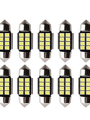 cheap iPad case-10pcs Car led c5w led bulb CANBUS 12V Festoon 31mm 36mm 39mm 41mm c5w c10w reading lamp car Interior Light 2835 SMD white