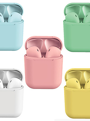 cheap iPad case-LITBest New Macaron i12 Inpods TWS True Wireless Headphones Hey Siri Earbuds Multiple Color Options Bluetooth 5.0 Pop Up for iOS Compatible with Android iOS Smartphones Touch Control Earphones