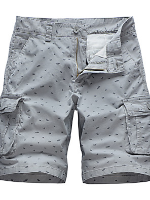 "cheap Hiking Trousers & Shorts-Men's Hiking Shorts Hiking Cargo Shorts Solid Color Summer Outdoor 10"" Standard Fit Breathable Quick Dry Sweat-wicking Comfortable Shorts Bottoms Army Green Light Grey Khaki Dark Blue Camping"