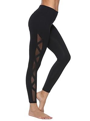 cheap Leggings-Women's Basic Legging - Solid Colored Mid Waist Black S M L