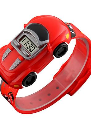 olcso Okos órák-SKMEI gyerekek Intelligens Watch Digitális Modern stílus Sportos Szilikon 30 m Vízálló Alkalmi óra Menő Digitális Alkalmi Divat - Fekete Világoskék Sárga