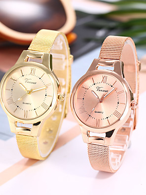 cheap Quartz Watches-Ladies Quartz Watches Elegant Fashion Silver Gold Rose Gold Alloy Chinese Quartz Rose Gold Gold Silver Casual Watch 1 pc Analog One Year Battery Life