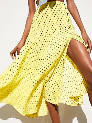 cheap Women's Skirts-Women's Swing Skirts - Geometric Yellow S M L