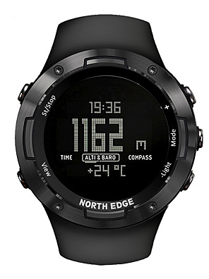 cheap Smart Watches-NORTH EDGE Unisex Military Watch Automatic self-winding Modern Style Sporty Casual Water Resistant / Waterproof Rubber Black Digital - Black One Year Battery Life / Stainless Steel / Japanese / LCD