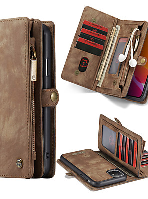 cheap iPhone Cases-CaseMe Multifunctional Luxury Business Leather Magnetic Flip Case For iPhone 11 / 11 Pro / 11 Pro Max / Xs Max / Xs / Xr / X With Wallet Card Slot Stand 2-in-1 Detachable Case Cover
