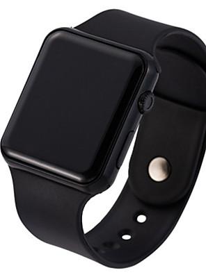 cheap Quartz Watches-Unisex Digital Watch Digital Sporty Stylish Casual LED Light Silicone Black / White Digital - Rose Gold White Black