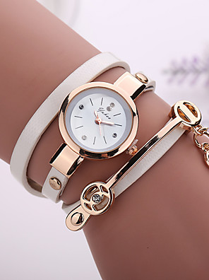 cheap Quartz Watches-Ladies Quartz Watches Cubic Zirconia Elegant Fashion Black White Blue Alloy Chinese Quartz Light Brown Lace Red Green Casual Watch 1 pc Analog One Year Battery Life